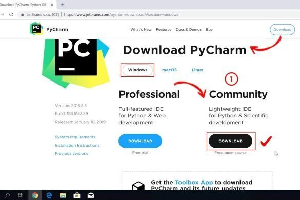 Python Pycharm indirmek