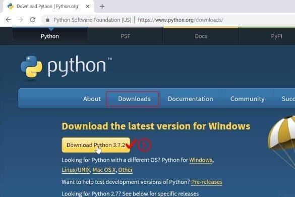 Python indirmek ve kurmak